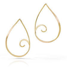 Golden Spiral Earrings by Susan Panciera (Gold Earrings)