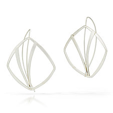 Prairie Grasses Earrings by Susan Panciera (Silver Earrings)