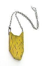 Folded X Pendant Necklace by Kat Cole (Enameled Necklace)
