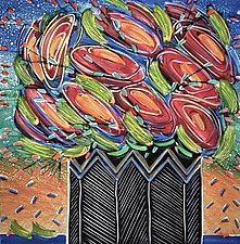 Sanguine Swirls by Penny Feder (Giclee Print)
