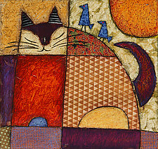 Blue Birds and a Cat by Penny Feder (Giclee Print)