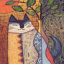 Curiously Content Cat by Penny Feder (Giclee Print)