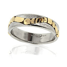 River Pebbles Band Gold Ring by Rona Fisher (Gold Ring)