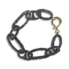 Free-Form Chunky Bracelet by Rona Fisher (Gold & Silver Bracelet)