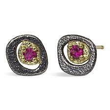 Pebble Stud Earrings by Rona Fisher (Gold, Silver & Stone Earrings)