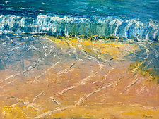 Lyrical Surf by Jan Fordyce (Oil Painting)