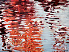 Swirl in Red by Jan Fordyce (Oil Painting)