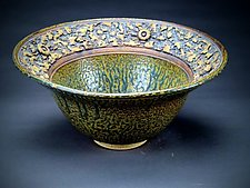 Innate Large Blue Centerpiece Bowl by Daniel  Bennett (Ceramic Bowl)