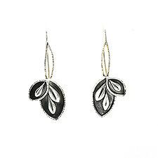 Leaflet Hoops by Vickie  Hallmark (Silver Earrings)