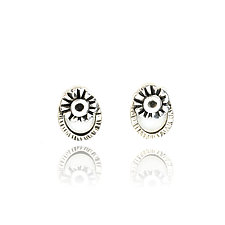 Blossom Halo Studs by Vickie  Hallmark (Silver Earrings)