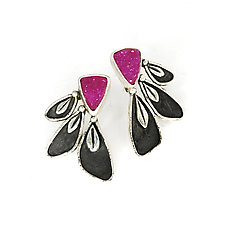 Zinnia Earrings by Vickie  Hallmark (Silver & Stone Earrings)
