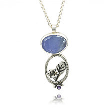 Morning Glory Pendant by Vickie  Hallmark (Silver & Stone Necklace)