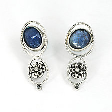 Winter Blues Earrings by Vickie  Hallmark (Silver & Stone Earrings)