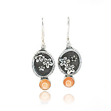 Geranium Earrings by Vickie  Hallmark (Silver & Stone Earrings)