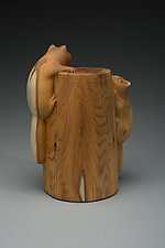 Up a Tree by Marceil DeLacy (Wood Sculpture)