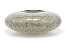 Optical Bowl With Gray Coral Murrini by Marc Carmen (Glass Bowls)