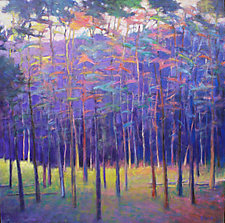 Purple Wood by Ken Elliott (Oil Painting)