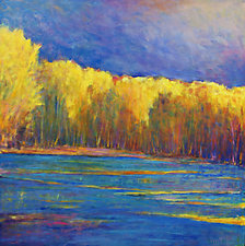 Yellows Across the Lake by Ken Elliott (Oil Painting)
