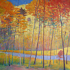 Creek Yellows by Ken Elliott (Oil Painting)