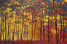 Brightly Lit Woods by Ken Elliott (Oil Painting & Giclee Print)