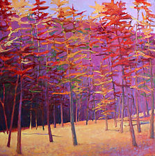 Autumn into Mauve by Ken Elliott (Oil Painting)