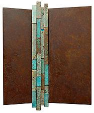 Wallpiece RCB 19.02 by David M Bowman and Reed C Bowman (Metal Wall Sculpture)