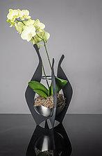Orchid Display Vase by Ken Girardini and Julie Girardini (Metal Vase)