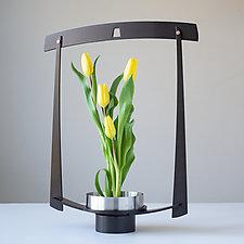 Nagano Ikebana Vase by Ken Girardini and Julie Girardini (Metal Vase)