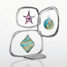 Mod Triple Ornament Display by Ken Girardini and Julie Girardini (Steel Ornament Display)