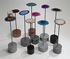 On the Rocks Table by Ken Girardini and Julie Girardini (Metal Table)