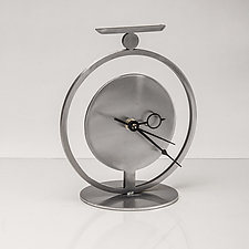 Halo Clock by Ken Girardini and Julie Girardini (Metal Clock)
