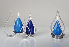 Happy Tears Candleholder Set by Ken Girardini and Julie Girardini (Metal Candleholder)