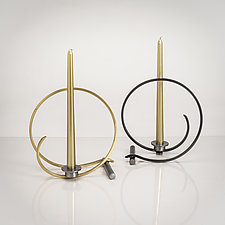 Loop Candleholder by Ken Girardini and Julie Girardini (Metal Candleholder)