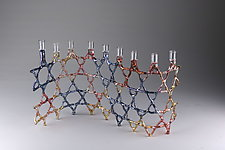 Unity Chanukah Menorah by Bandhu Scott Dunham (Art Glass Menorah)