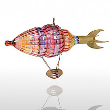 Flight o' Fancy by Bandhu Scott Dunham (Art Glass Ornament)