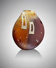 Masala Flat by Randi Solin (Art Glass Vessel)