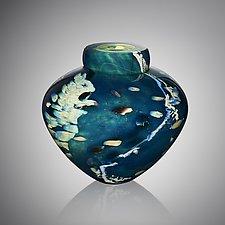 Atlantis Emperor Bowl by Randi Solin (Art Glass Vessel)