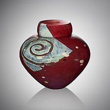 Persimmon Emperor Bowl by Randi Solin (Art Glass Vessel)