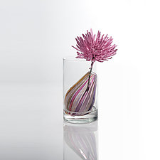Bead Bud Vase - Teardrop by Tracy Glover (Art Glass Sculpture)