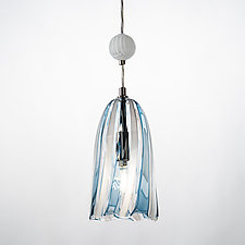 Beaded Cone Pendant by Tracy Glover (Art Glass Pendant Lamp)