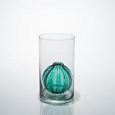 Bead Bud Vase - Single Globe by Tracy Glover (Art Glass Vase)