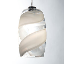 Swirled Barrel Pendant by Tracy Glover (Art Glass Pendant Lamp)