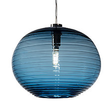 Blue Onion Pendant by Tracy Glover (Art Glass Pendant Lamp)