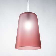 Frosted Cone Pendant by Tracy Glover (Art Glass Pendant Lamp)