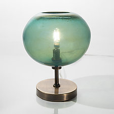 Onion Table Lamp by Tracy Glover (Art Glass Table Lamp)