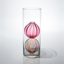 Bead Bud Vase - Double Globe by Tracy Glover (Art Glass Vase)