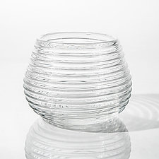Clear Wrap Bowl by Tracy Glover (Art Glass Bowl)