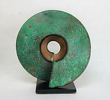 Verde Coil by Cheryl Williams (Ceramic Sculpture)