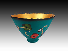 Universal Symbols Vessel by Cheryl Williams (Ceramic Vessel)