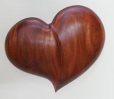 Healing Heart Wall Sculpture by Mark Levin (Wood Wall Sculpture)